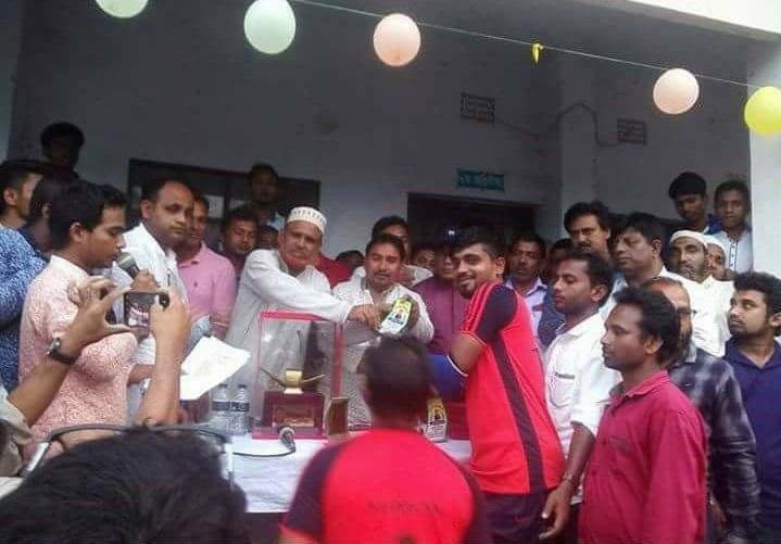 ত্রিশালে-মেয়র-ক্রিকেট-The final of the trilogy Mayor Cricket Tournament was held