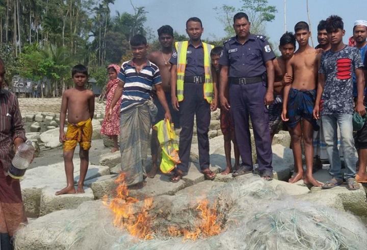 নৌ-পুলিশের-অভিযানে-Naval police raids 10 thousand meters of the net