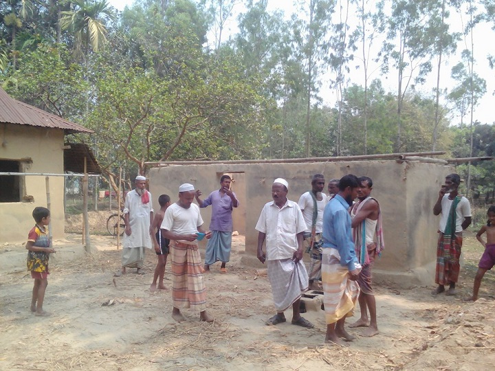 বসত-ঘর-ভাংচুর-Looted goods by vandalizing houses in Halughat