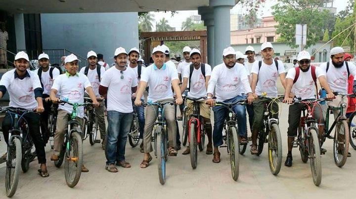 ময়মনসিংহে-ব্রহ্মপুত্র-Cycle Rally of Brahmaputra Blood Society in Mymensingh