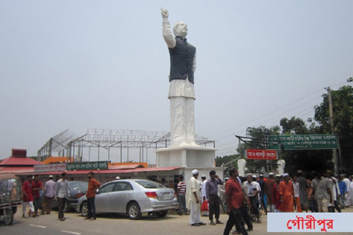 স্বাধীনতা-দিবস-On the occasion of the Independence Day, MP extended the beauty of Bangabandhu's sculpture in Gauripur
