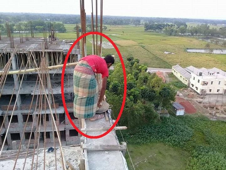 লেবার-সেফটি-কোড-Labour Safety Code is not being implemented in the building under Nazrul University