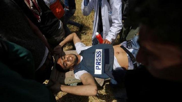 সাংবাদিক-নিহত-Palestinian journalist killed in Israeli military firing