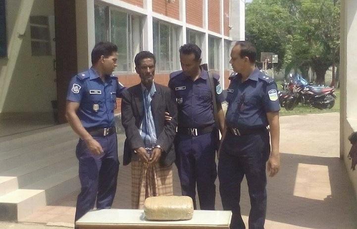 হালুয়াঘাটে-গাঁজাসহ-আটক-Two kg of cannabis in Haluaghat