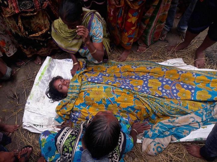 বজ্রপাত-দূর্ঘটনা-Mymensingh thunder and two women's death in accident