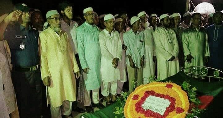 চাঁদপুরে বীর মুক্তিযোদ্ধা নজরুল ইসলাম পাটওয়ারীকে রাষ্ট্রীয় মর্যাদায় দাফন