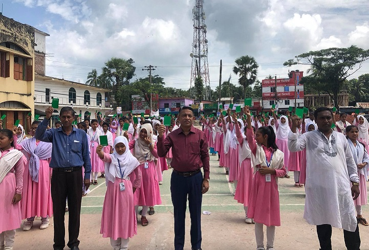 লক্ষ্মীপুরে বাল্যবিবাহ না করার শপথ ছাত্রীদের