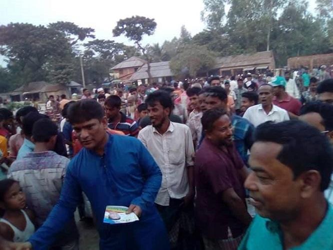 কালাই ও ক্ষেতলালে জাপা প্রার্থী রিপনের গনসংযোগ