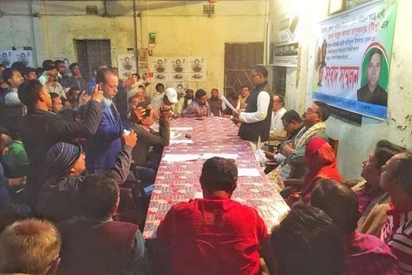 পূর্বধলায় উপজেলা চেয়ারম্যান প্রার্থীর সংবাদ সম্মেলন