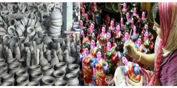 বৈশাখী মেলা উপলক্ষ্যে গৌরনদীতে মৃৎশিল্পীরা মহাব্যস্ত