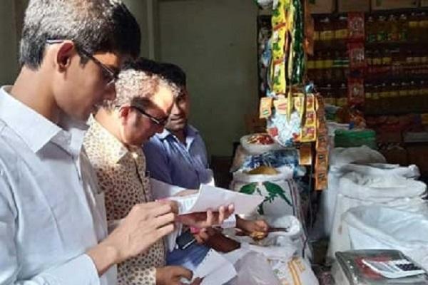 রায়পুরে ভ্রাম্যমান আদালতে ৫ ব্যবসায়ীর জরিমানা