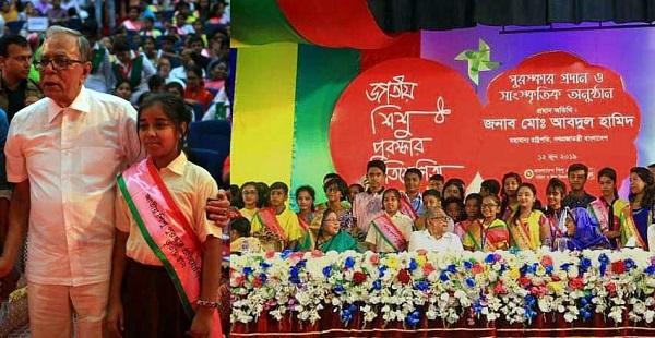 কিশোরগঞ্জের তৈয়বা শরীফুল্লাহ তোরসা জাতীয় শিশু পুরস্কার পেল