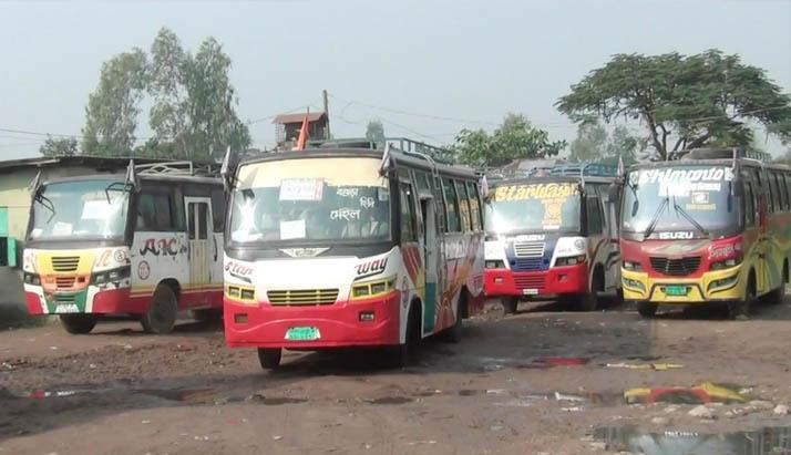 হিলি-দিনাজপুর,হিলি-বগুড়া রুটে বাস চলাচল শুরু